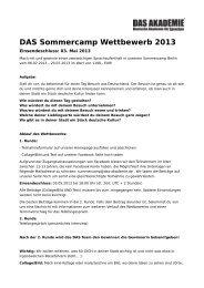 DAS Sommercamp Wettbewerb 2013