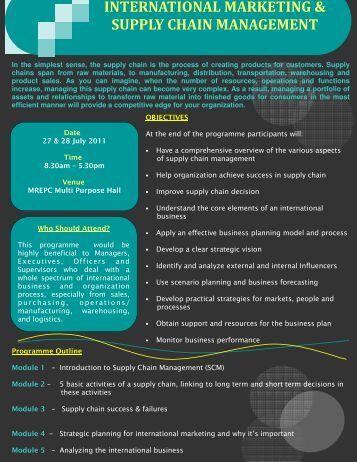 international marketing and supply chain management mrepccom - International Marketing Director Job Description