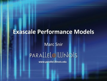 Exascale Performance Models