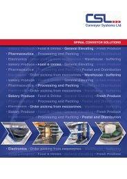 PDF - 2mb - Conveyor Systems Ltd