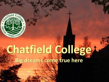 New Faculty Orientation Powerpoint (PDF) - Chatfield College