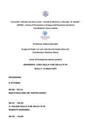 Università Cattolica del Sacro Cuore - Facoltà di Medicina e Chirurgia