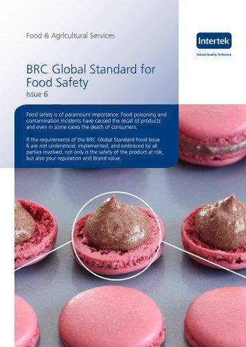 BRC Global Standard for Food Safety - Intertek