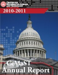 Annual Report - Center for Mathematics, Science & Technology ...