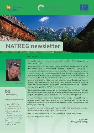 NATREG newsletter1.indd - Cilj 3