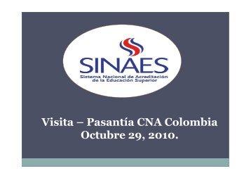 Vea la presentación del informe de la pasantía - CNA