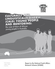 culturally and linguistically diverse (cald) young people and mentoring