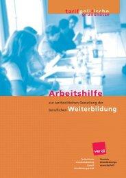 Arbeitshilfe zur Gestaltung von Weiterbildung - Bildungspolitik - Ver.di