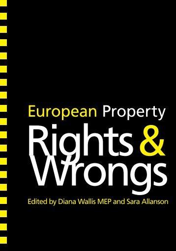 European Property Rights and Wrongs - Diana Wallis MEP
