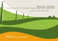 Energy future of the Stockholm region 2010-2050