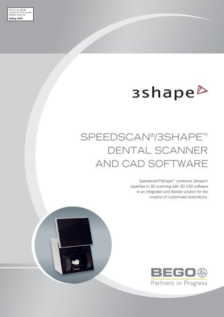 Speedscan 3shape Dental Scanner And Cad Bego Medical