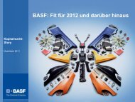 Strategische Stellhebel - BASF