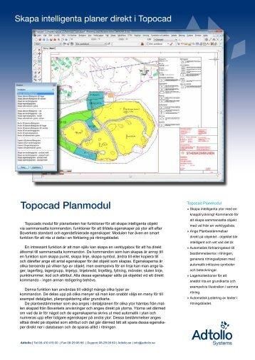 Topocad Planmodul - Adtollo