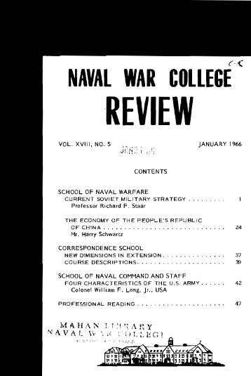 1966 January - US Naval War College