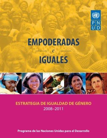 UNDP Gender Strategy - PNUD