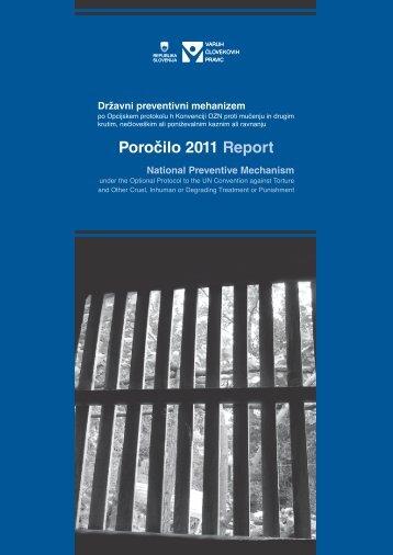 poročilo dpm za leto 2011 - Varuh človekovih pravic
