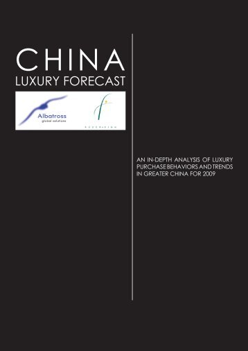 2009 China Luxury Forecast - Ruder Finn