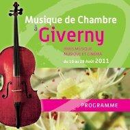 Musique de Chambre Giverny