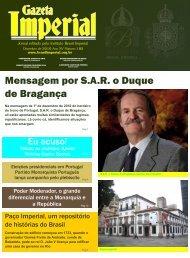 Na mensagem de 1º de dezembro de 2010 do ... - Brasil Imperial