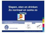 Eten, drinken en slapen - Yvette Dijkshoorn (pdf) - Kennisplein