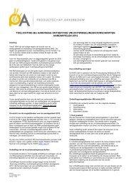 toelichting - Productschap Akkerbouw