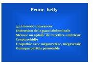 Syndrome de Prune Belly– P Vergnes - SOFOP