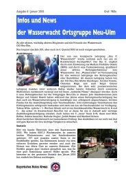 Infos und News 6 - Wasserwacht Ortsgruppe Neu-Ulm