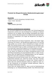 Protokoll Bürgerforum
