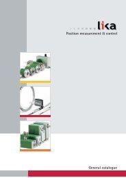 Position measurement & control General catalogue - Stork AS