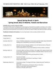 Spend Spring Break in Spain Spring break 2012 in Madrid, Toledo ...