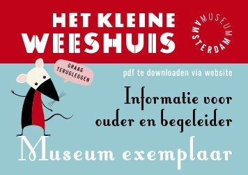 Informatie voor ouder en begeleider - Amsterdam Museum