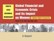 The global financial and economic crisis and its impact ... - PWESCR