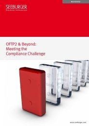 OFTP2 & Beyond: Meeting the Compliance Challenge - Seeburger