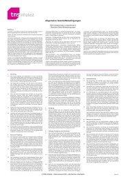 Allgemeine Geschäftsbedingungen - TNS Infratest
