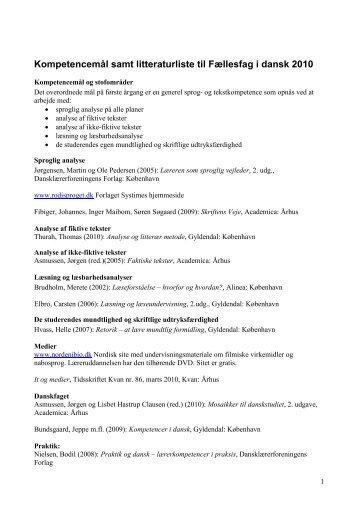 Litteraturlisten 2010 - rasmus-fink-lorentzen
