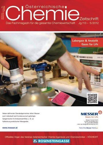 österreichische Chemie-Zeitschrift Ausgabe 05/2012 PDF-Download