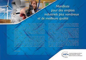 Manifeste pour des emplois industriels plus nombreux et ... - EMF-FEM