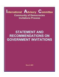 Download the Full IAC Report - Council for a Community of ...
