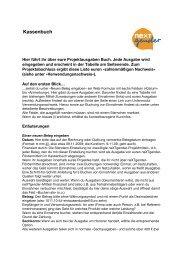 Kassenbuch - Jugendserver Niedersachsen