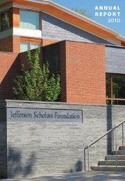 2010 - Jefferson Scholars Foundation