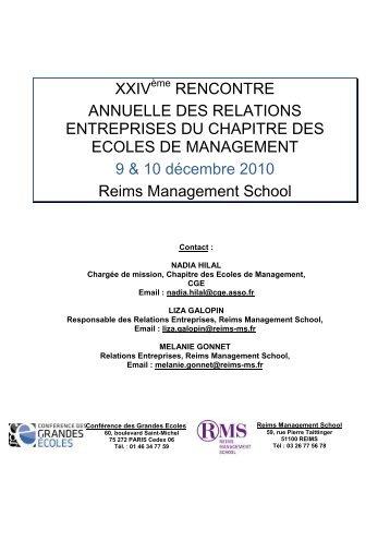 XXIV RENCONTRE ANNUELLE DES RELATIONS ENTREPRISES ...