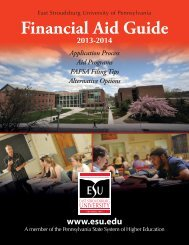 Financial Aid Guide - East Stroudsburg University