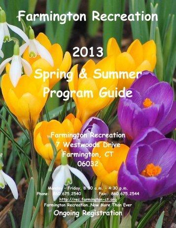 Recreation Program Guide - Town of Farmington