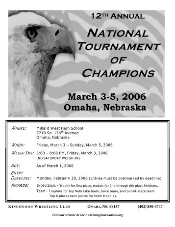 NATIONAL TOURNAMENT OF CHAMPIONS