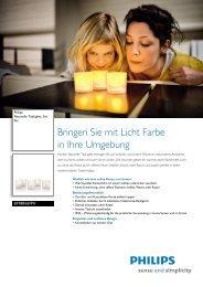 Leaflet 6918860PH Released Switzerland (German) High ... - Philips