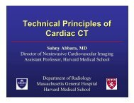 Technical Principles of Cardiac CT