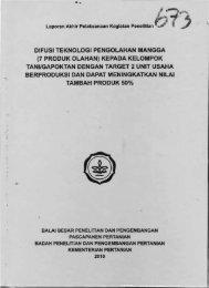 difusi teknologi pengolahan mangga (7 produk olahan ... - KM Ristek