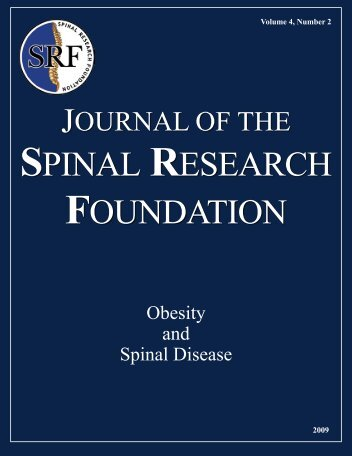 Click to Read the Fall 2009 Journal - Spinal Research Foundation