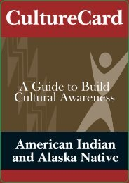 Culture Card: A Guide to Build Awareness ... - SAMHSA Store