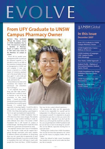 December 2007 - UNSW Global Pty Limited - University of New ...